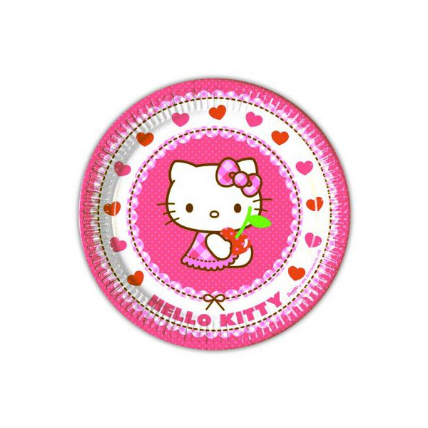 Pappteller - Hello Kitty - 8 St.