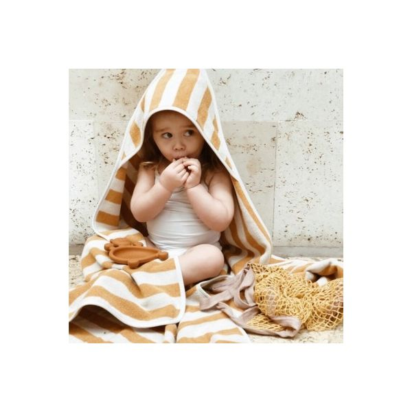 Baby Kapuzenhandtuch - Louie hooded towel - Yellow mellow/sandy - Liewood