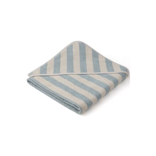 Baby Kapuzenhandtuch - Louie hooded towel - Sea blue/sandy - Liewood