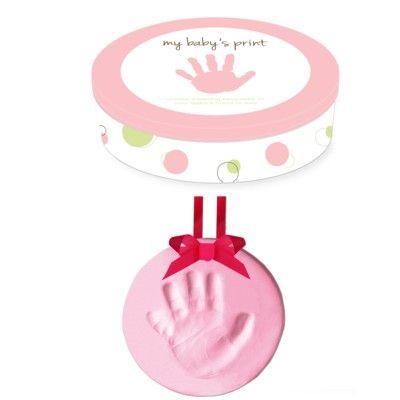 Abdruck für Baby-Hand oder Fuß - Rosa
