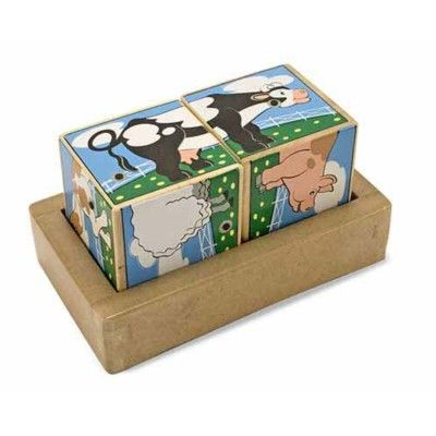 Würfelpuzzle - Tiere mit Geräuschen