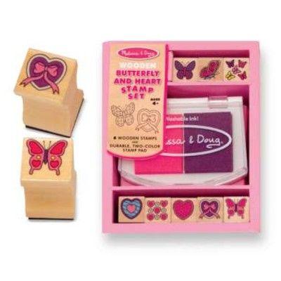 Stempel - Herzen und Schmetterlinge
