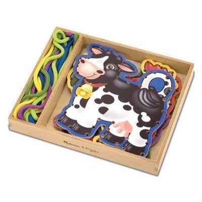 Fädelspielzeug - Fünf Bauernhoftiere