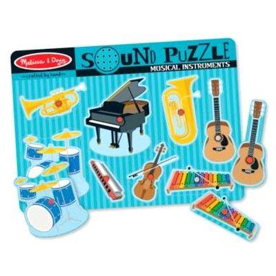 Puzzle mit Knöpfen - Instrumente mit Geräusch - Melissa & Doug