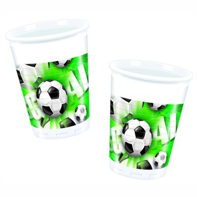Plastikbecher - Fußball - 10 St.