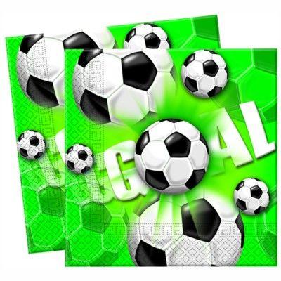 Papierservietten - Fußball - 20 St.