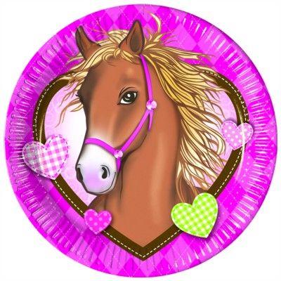 Pappteller - Pferd - 10 St.