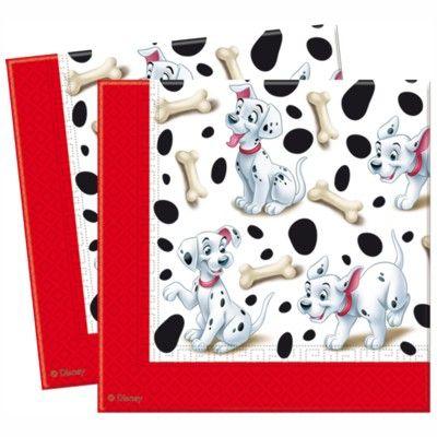 Papierservietten - 101 Dalmatiner - 20 St.