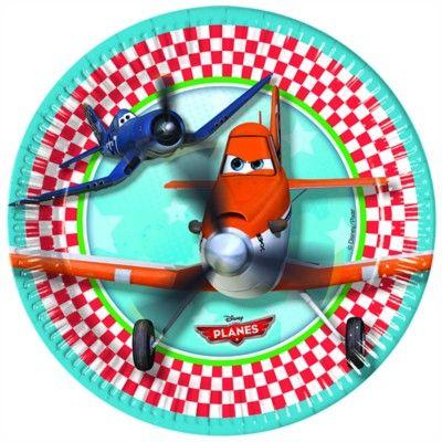 Pappteller - Planes - 8 St.