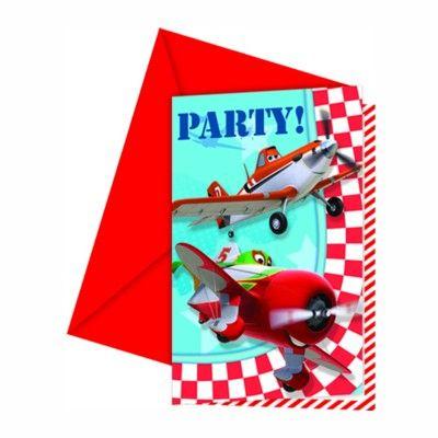 Einladungskarten - Planes - 6 St.