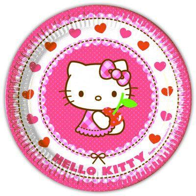 Pappteller - Hello Kitty - 8 St.