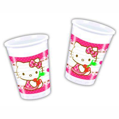 Plastikbecher - Hello Kitty - 8 St.