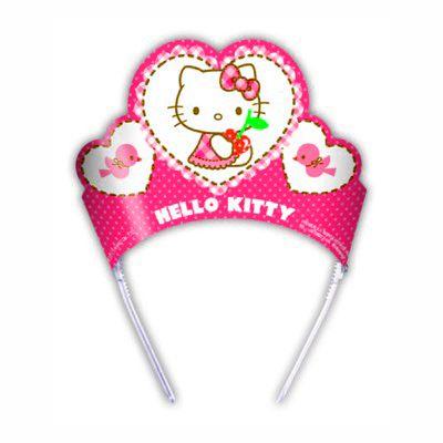 Partyhüte - Hello Kitty Tiaren - 6 St.
