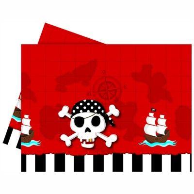 Tischedecke - Pirat rot/schwarz