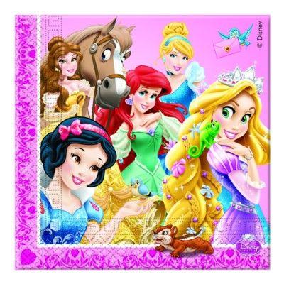 Papierservietten - Disneyprinzessinnen - 20 St.
