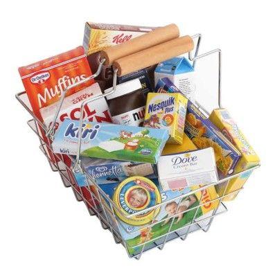 Kaufladen - Einkaufskorb mit Lebensmittel