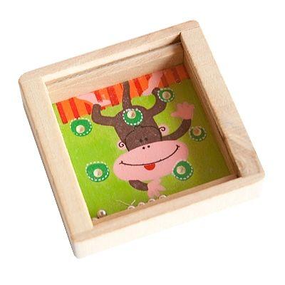 Holzgeduldspiel - Affe