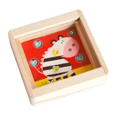 Holzgeduldspiel - Zebra