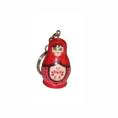Schlüsselring - Matroschka - Rot