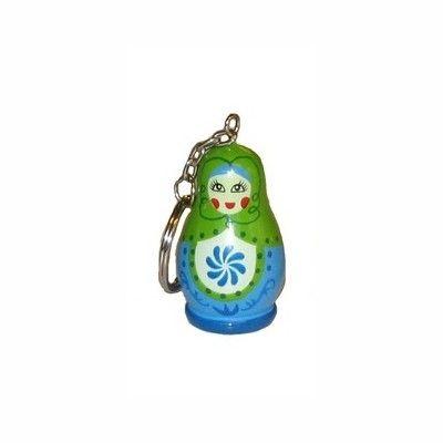 Schlüsselring - Matroschka - Grün