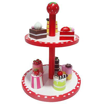 Kaufladen - Rote Kuchenplatte mit Kuchen
