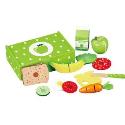 Kaufladen - Lunchbox aus Holz - Apfel