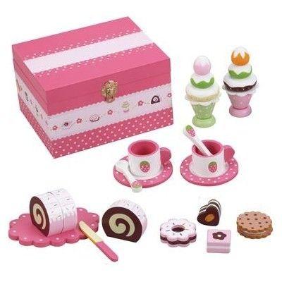 Kaufladen - Keksdose mit Kuchen und Geschirr