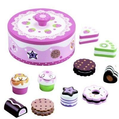 Kaufladen - Keksdose mit Kuchen und Süßigkeiten