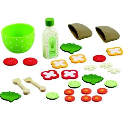Kaufladen - Pita Taschen-Set aus Filz und Holz - MaMaMeMo