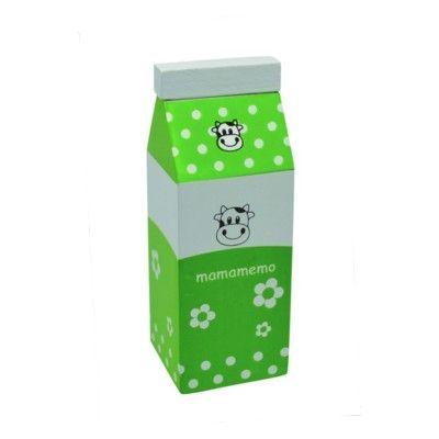 Kaufladen - Milch aus Holz - Grün