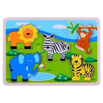 Puzzle - Wilde Tiere mit Geräusch - 6 Teile
