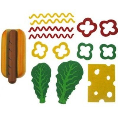 Kaufladen - Hot dogs aus Holz und Stoff machen