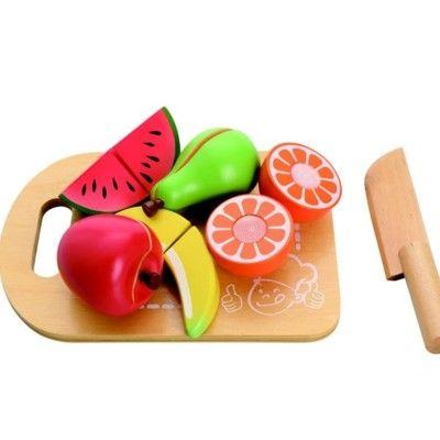 Kaufladen - Teilbares Essen aus Holz - Obst - MaMaMeMo