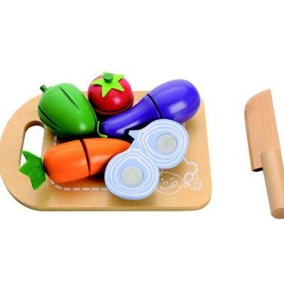 Kaufladen - Teilbares Essen aus Holz - Gemüse - MaMaMeMo