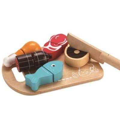 Kaufladen - Teilbares Essen aus Holz - Fleisch - MaMaMeMo