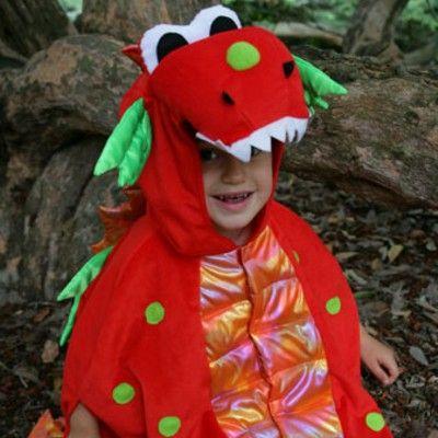 Verkleidung - Drachencape, 4-8 Jahre