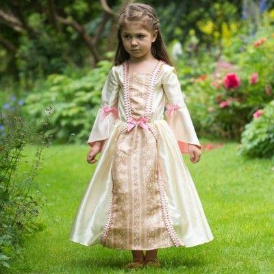 Verkleidung - Kleid in gold und rosa - 3-5 Jahre