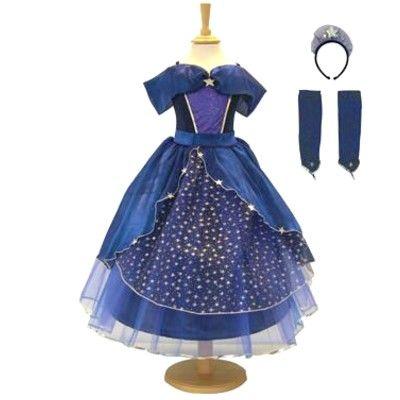 Verkleidung - Kleid - Blau mit Sternen- 9-11 Jahre