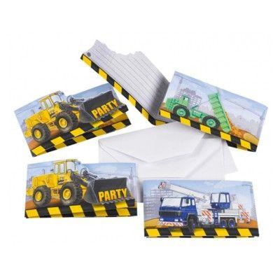 Einladungskarten - Construction - 8 St.
