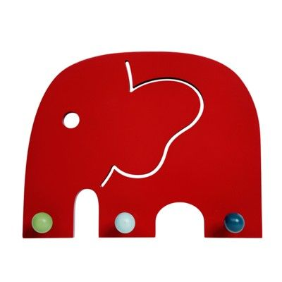 Kleiderleiste mit 3 Haken - Oscar Elefant - Ökologisch von Franck & Fischer