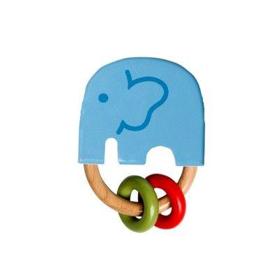 Greifling-Elefant mit Perlen - India Blau - Ökologisch von Franck & Fischer