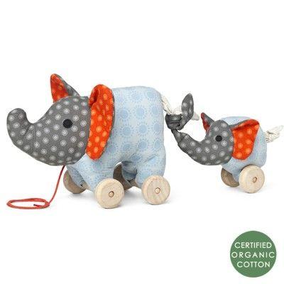Nachziehspielzeug - Noma Elefant - Ökologisch von Franck & Fischer