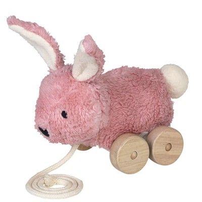Nachziehspielzeug - Mingus pink rabbit. - Ökologisch von Franck & Fischer
