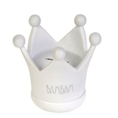 Spardose - Weiße Krone - BamBam