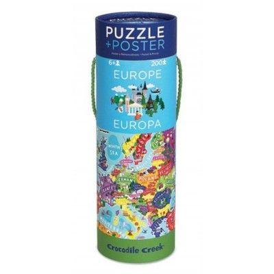 Puzzle - Europa mit Bild - 200 Teile