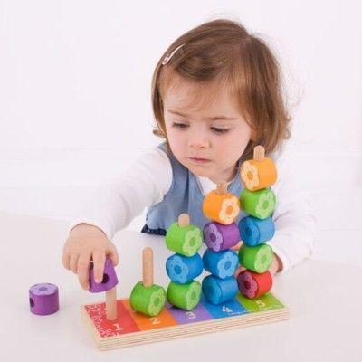 Puzzle - Zählen mit Stapeln - Blumen - Bigjigs