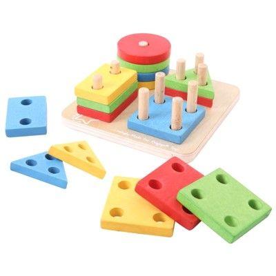 Puzzle - Farben und Formen - Haus und Baum - Bigjigs