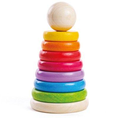 Stapelturm - Regenbogen - Bigjigs