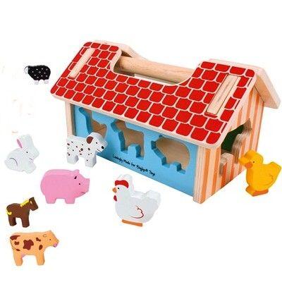 Steckkasten - Haus mit Bauernhoftieren - Bigjigs