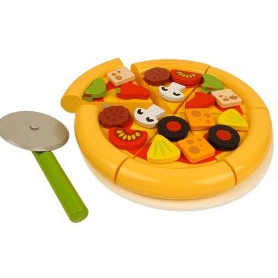 Kaufladen - Pizza und Pizzaschneider - Bigjigs
